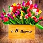 Цветочное поздравление с 8 Марта!