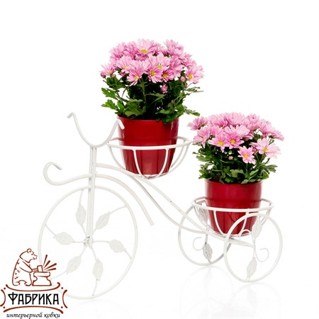 Подставка велосипед на 2 цветка 14-802