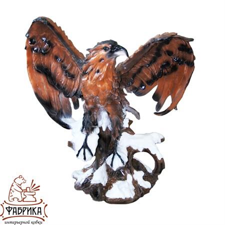 Садовая фигура из полистоуна Орёл на Пне  F01025