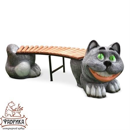Лавочка садовая Кот