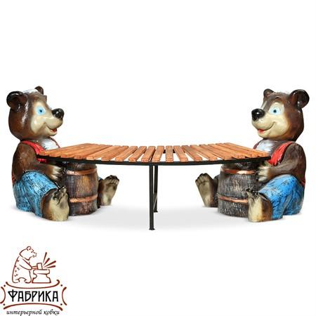 Садовая мебель из полистоуна Медведь с Бочонком U07591