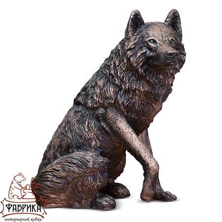 Садовый декор из полистоуна фигура Волк FS01001