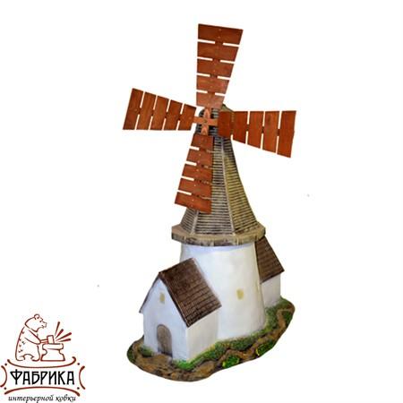 Садовый декор из полистоуна Мельница Голландия U07523