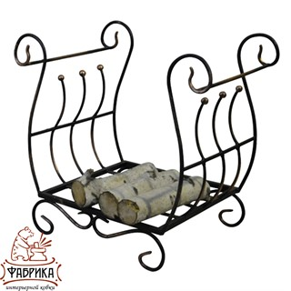 Кованый декор для дома Дровница 500-73