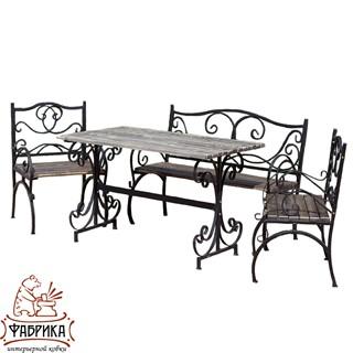 Кованый комплект дачной мебели