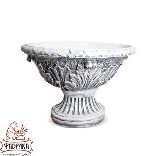 Садовый декор из полистоуна Вазон Овальный белый U07930-BT