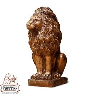 интерьерная фигура золотой лев сидит правый BG F01079