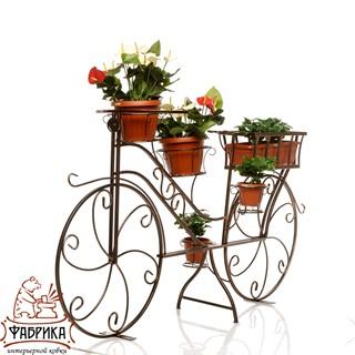 Подставка для цветов велосипед 53-604
