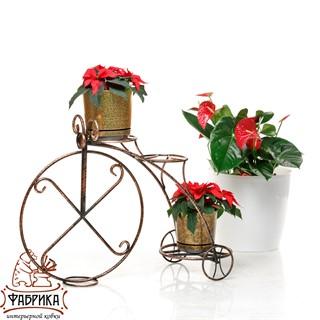 Подставка для цветов Велосипед 25-004