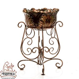 Садовый декор из полистоуна Уличный вазон бронза US07996 (53-504+US07926)