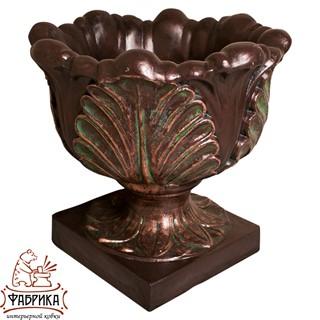 Садовый декор из полистоуна Чаша с Листьями US07926