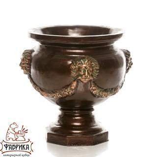 Садовый декор из полистоуна Чаша со Львом US07927