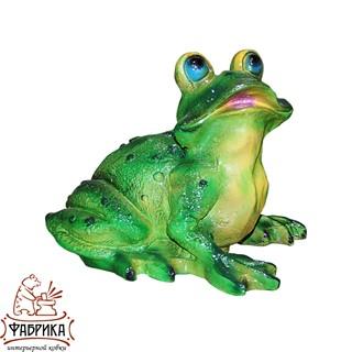 Садовая фигура из полистоуна Лягушка-Квакушка F01128