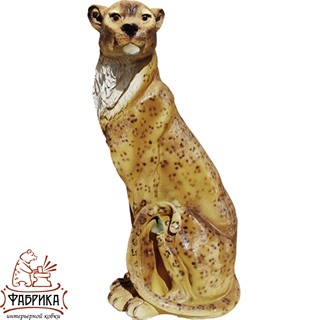Садовая фигура из полистоуна Леопард F01176