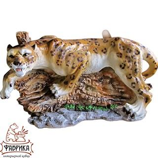Садовая фигура из полистоуна Леопард на Дереве F01338