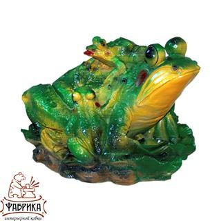 Садовая фигура из полистоуна Лягушка F01019