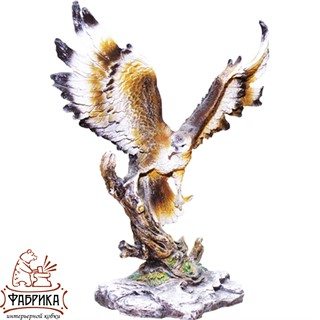 Садовая фигура из полистоуна Орёл на Коряге F01276