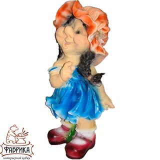 Садовая фигура из полистоуна Девочка Кокетка F03182