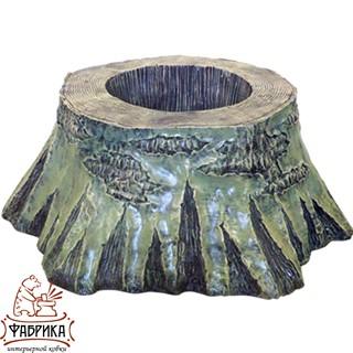 Садовый декор из полистоуна кашпо Пень березовый U07452