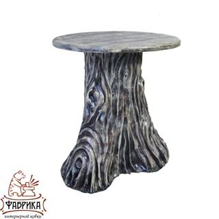 Садовая мебель из полистоуна стол Пень U07491