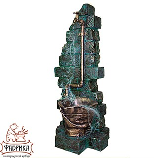 Садовый декор из полистоуна Умывальник с Ведёрком US07557