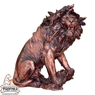 Садовый декор из полистоуна фигура Лев большой FS01175