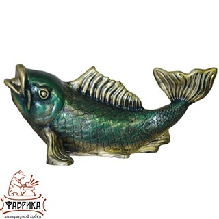 Садовый декор из полистоуна Рыба U07453