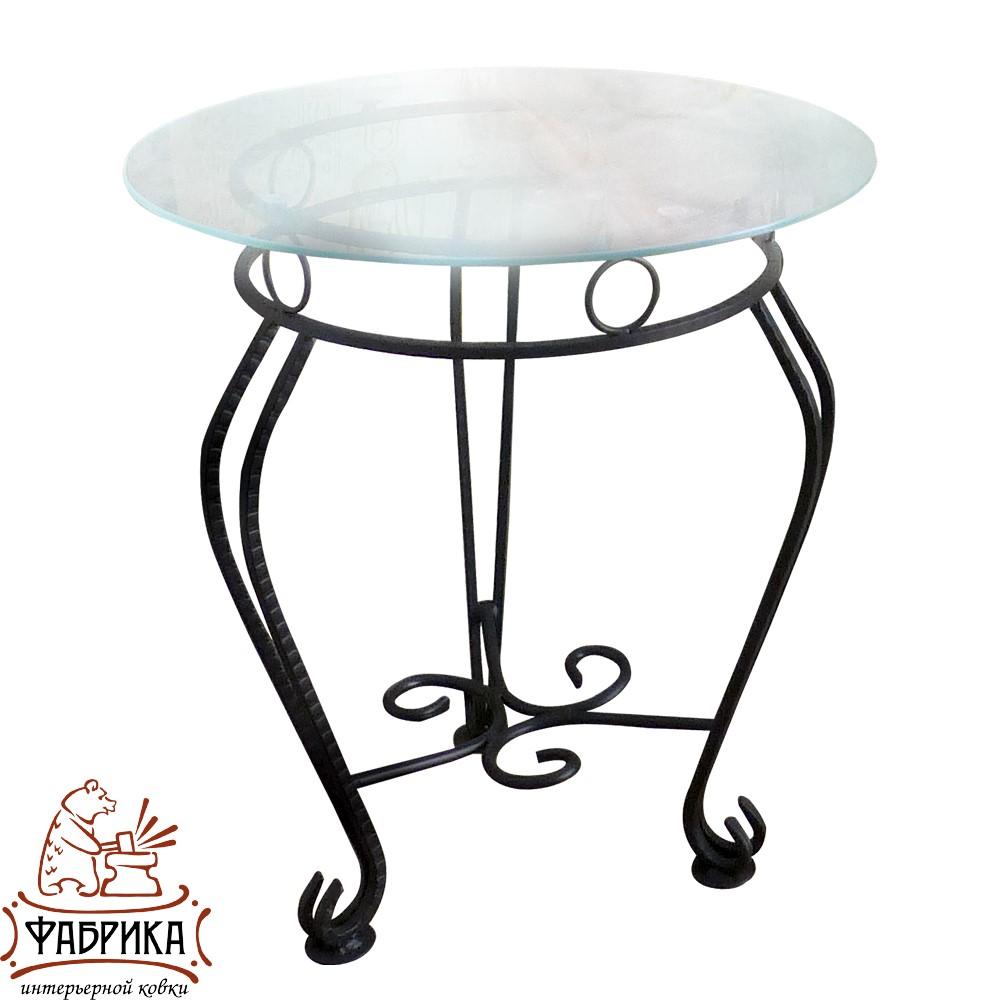 Стол 340-01 (стекло) d50
