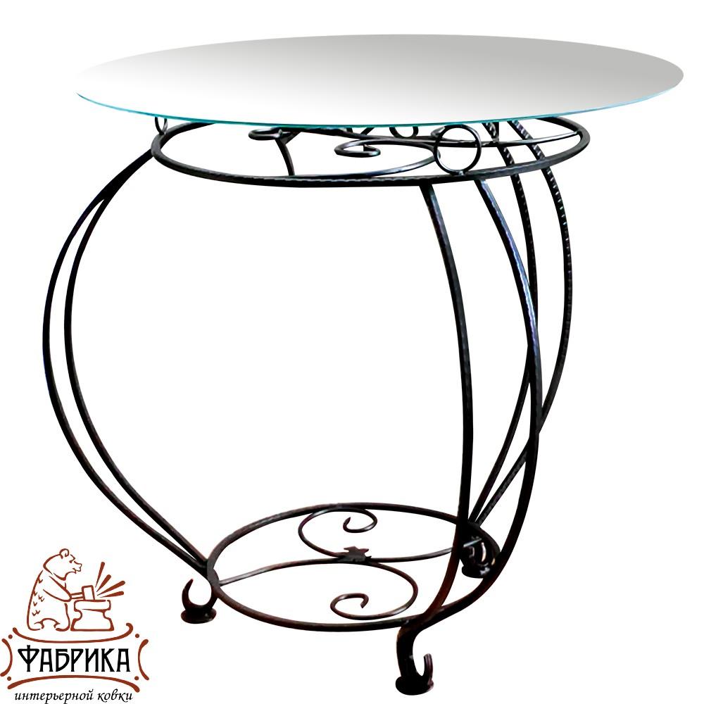 Стол 348-12  (стекло) d 75 см