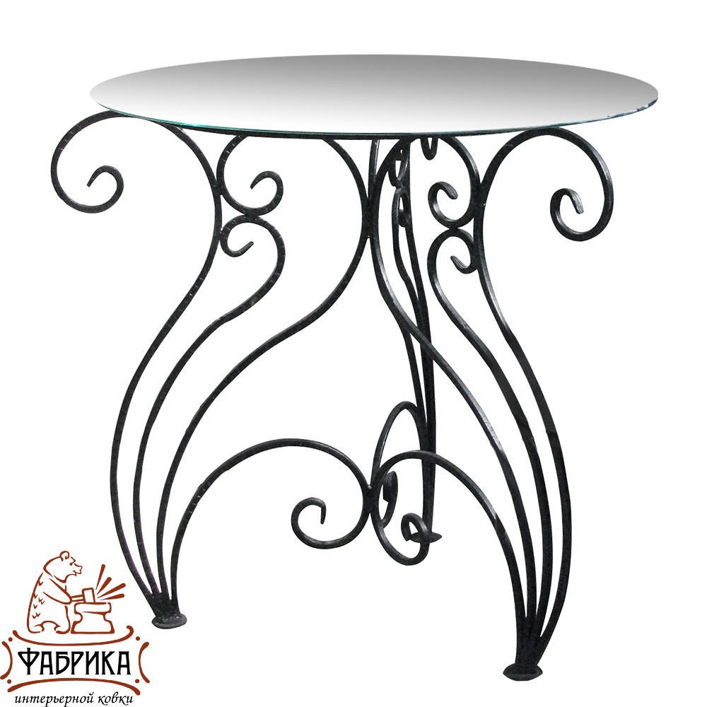 Стол 349-03 (стекло) d 75 см