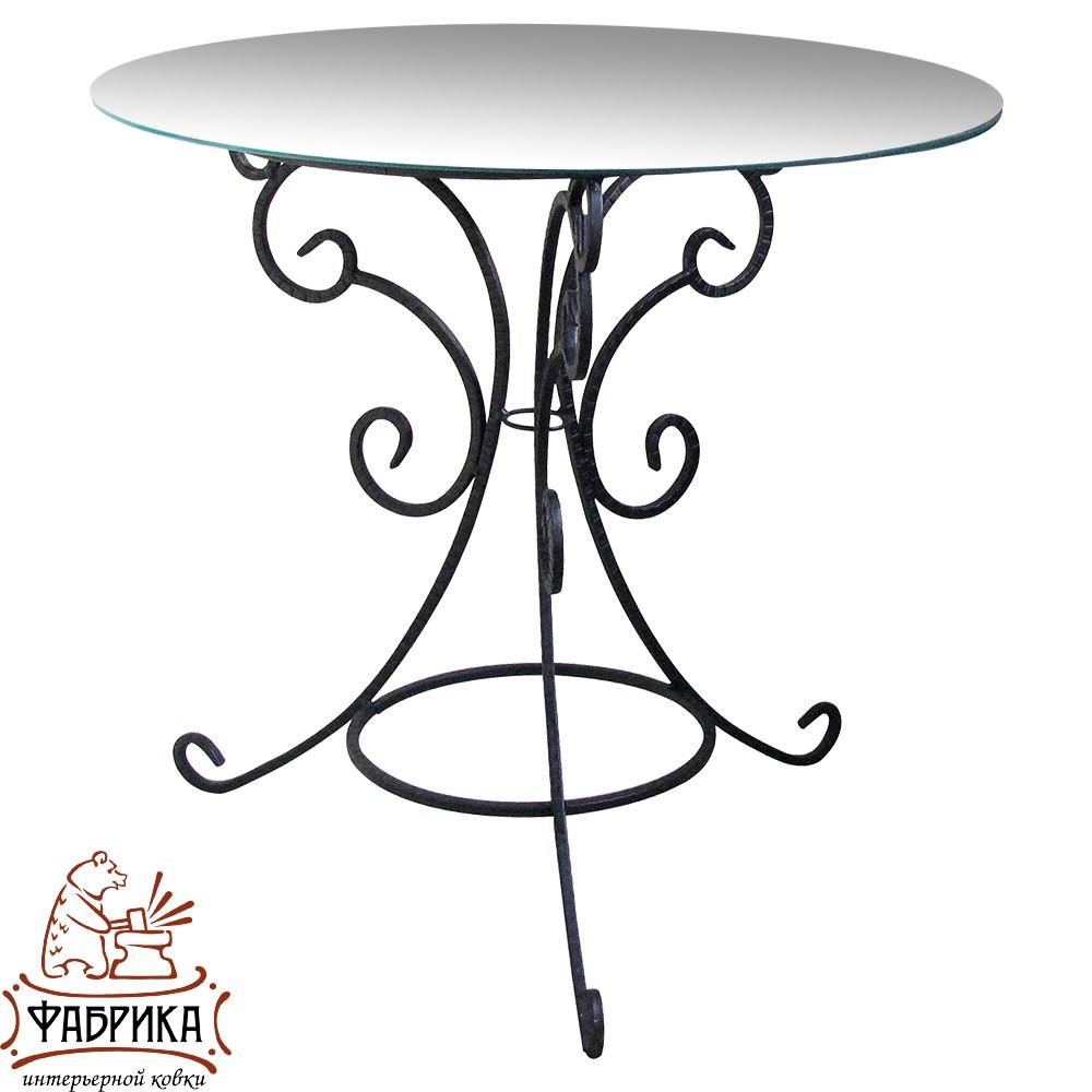 Стол 349-01 В (стекло) d 55 см