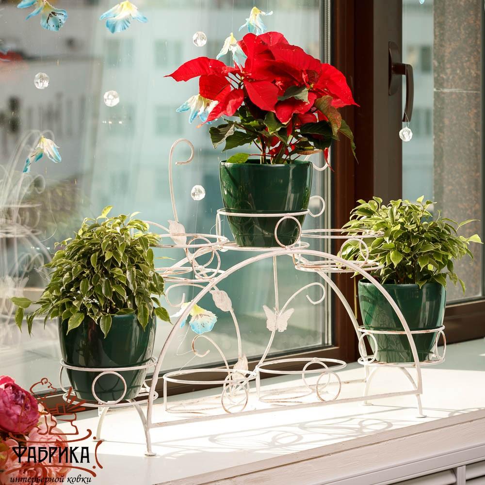 фото подставки для цветов на подоконник
