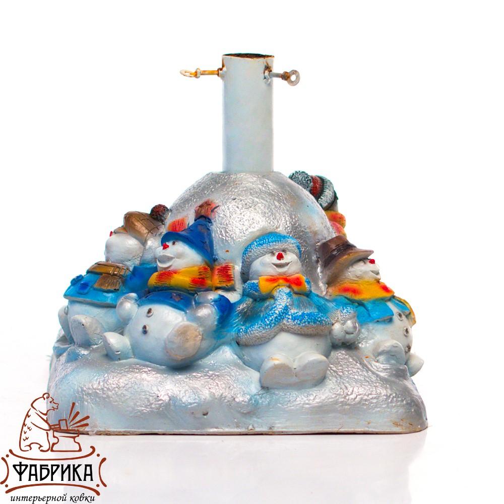 Елочная подставка Снеговики на горке U07812