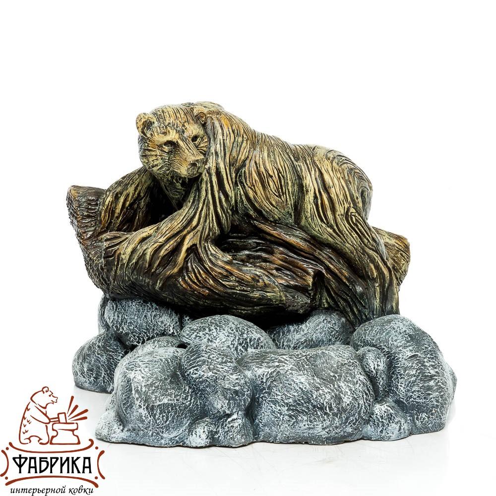 Фонтан для сада и дачи, Медведь на пне у источника, U08207