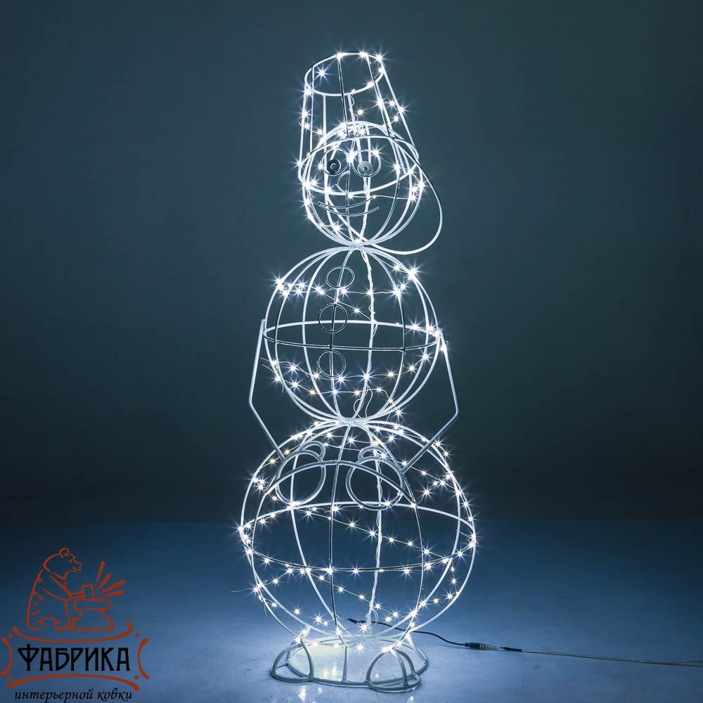 Световая светодиодная фигура снеговик, 57-625