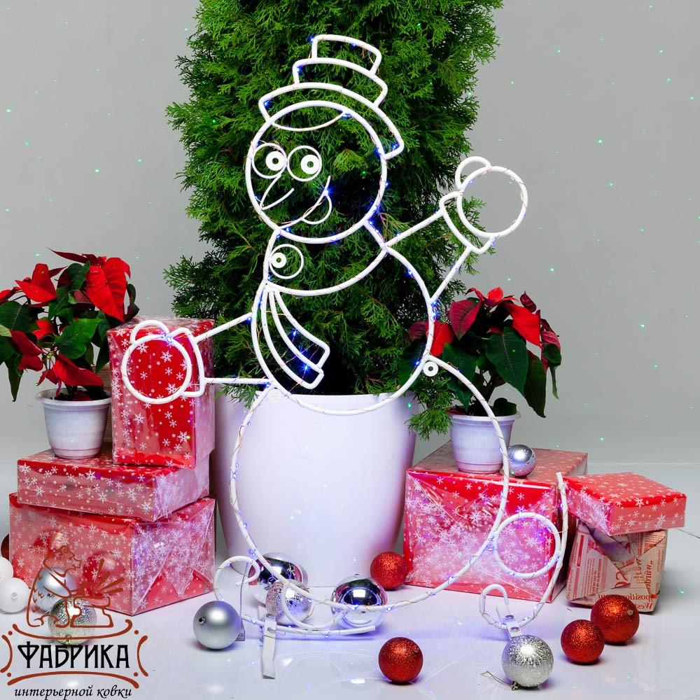 Световая фигура снеговик, 57-637