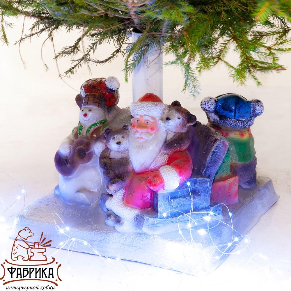 Елочная подставка Дед мороз в кресле U07808