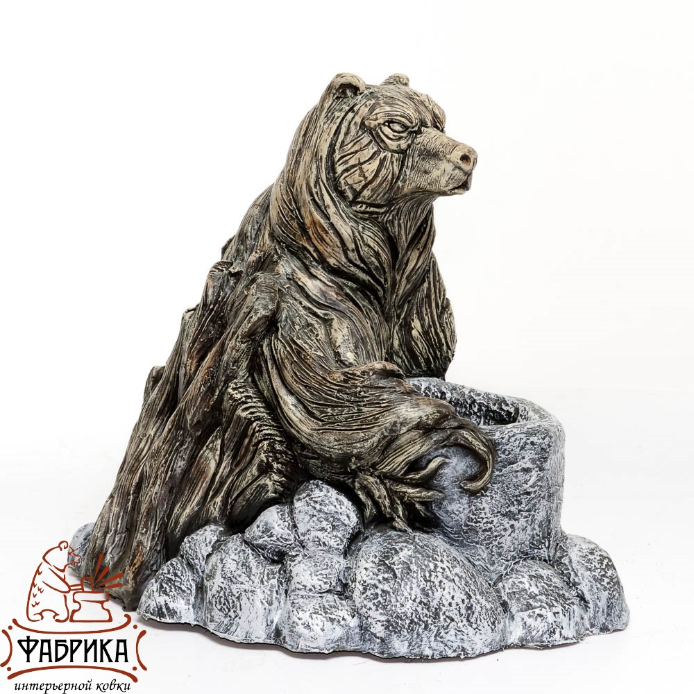 Кашпо с медведем