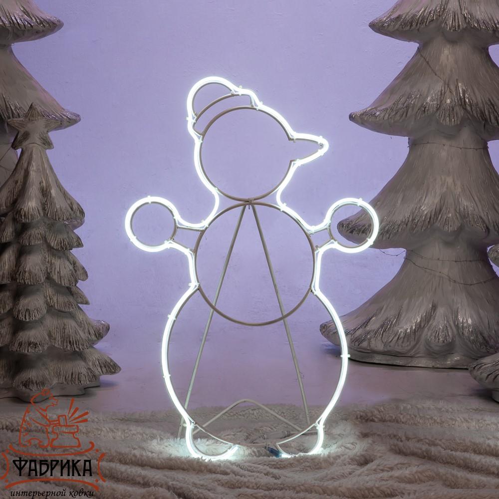 Фигура Снеговик светящаяся, 57-654