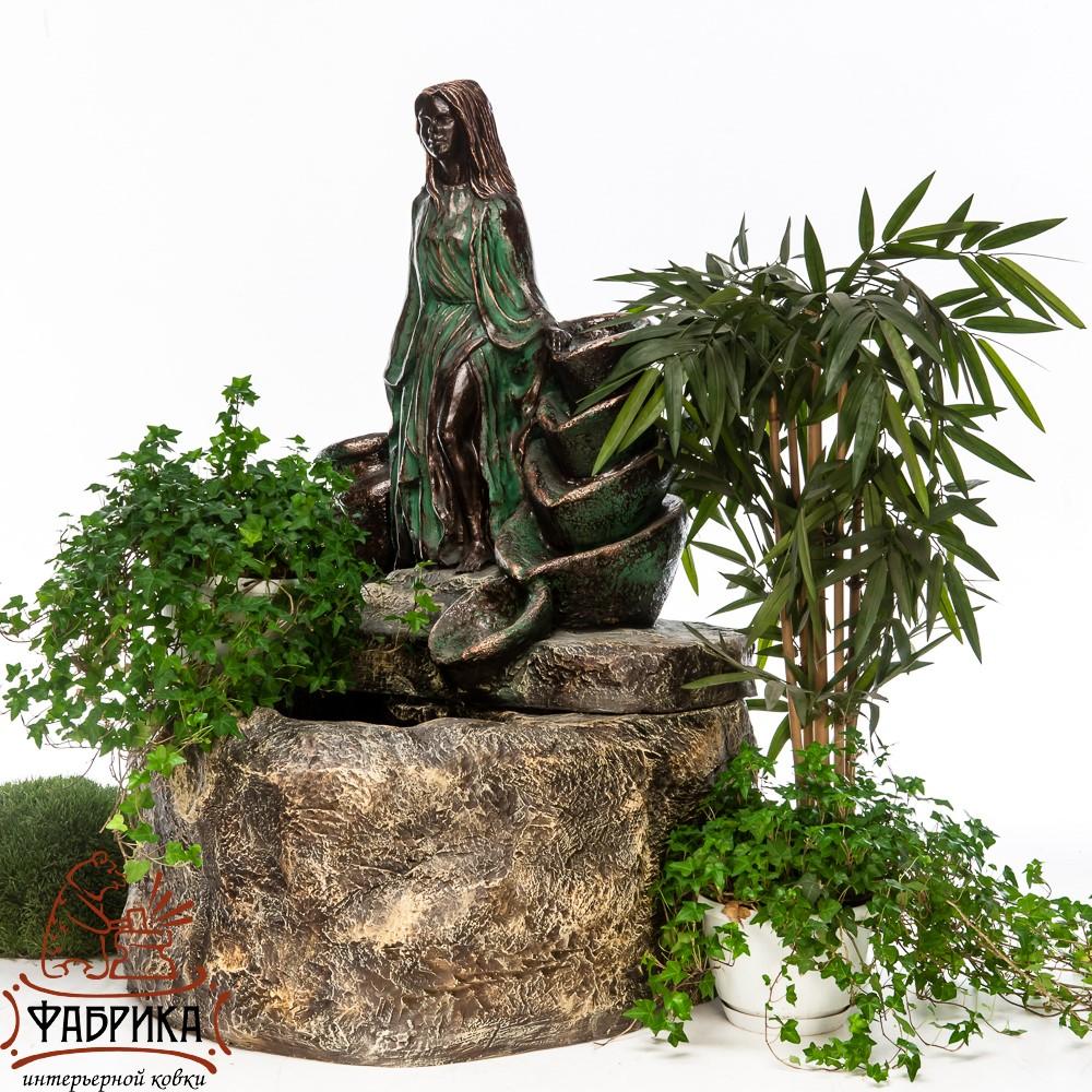 Садовый фонтан Девушка у источника, US08599