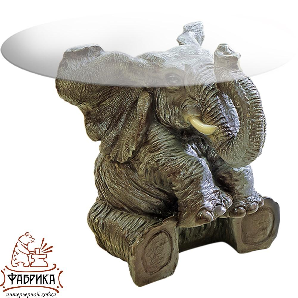 Стол журнальный Слон, полистоун