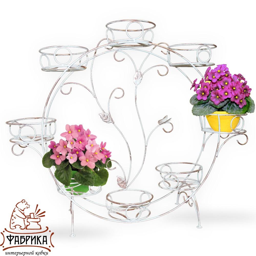 Подставка для цветов на подоконник 14-908 на 8 цветов