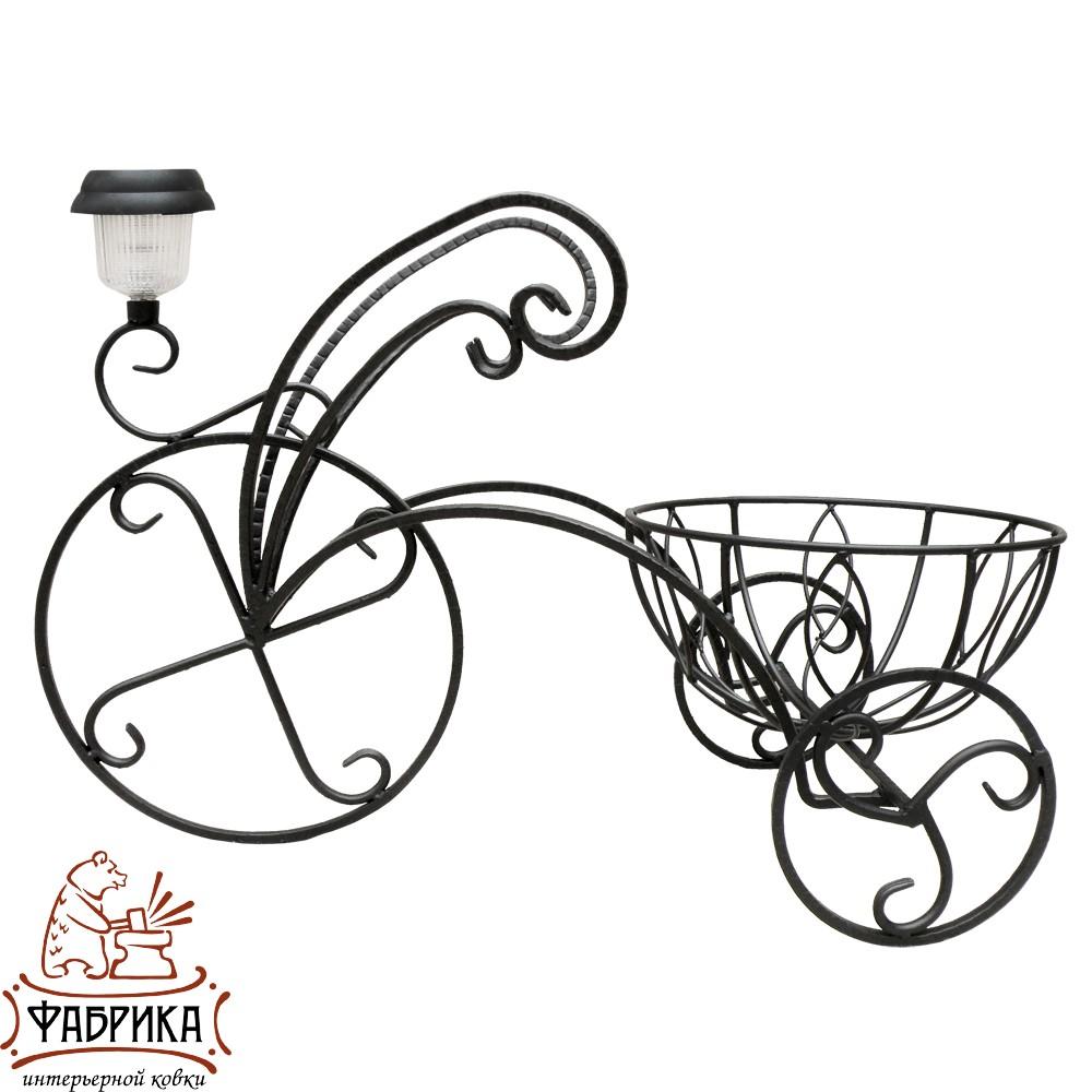 Подставка для цветов Велосипед с фонарем, 53-355