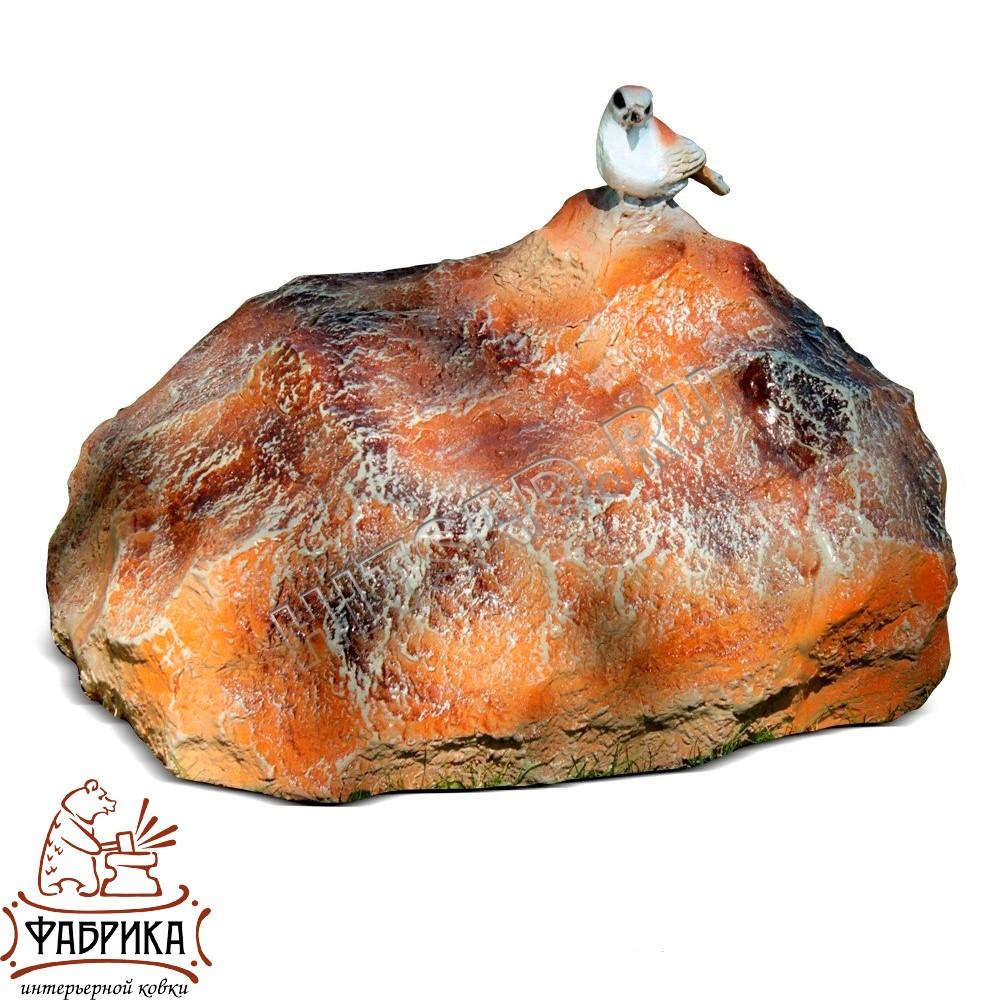 Камень с птичкой F 03132