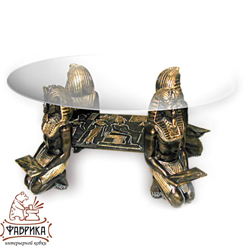 Стол журнальный Египетские Фараоны, полистоун