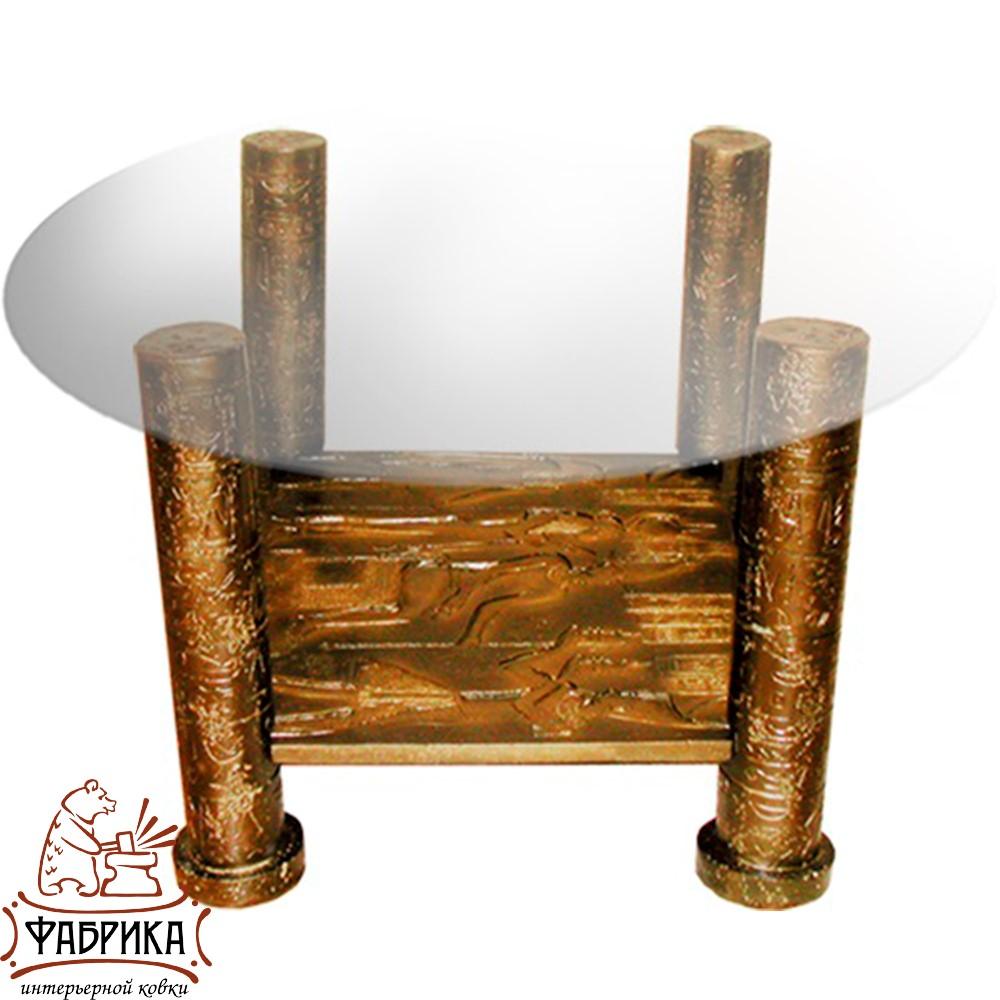 Стол декоративный из полистоуна Фреска