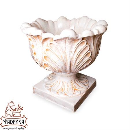 Садовый декор из полистоуна Чаша с Листьями U07926-WP