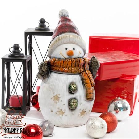 Фигура Снеговик из полистоуна