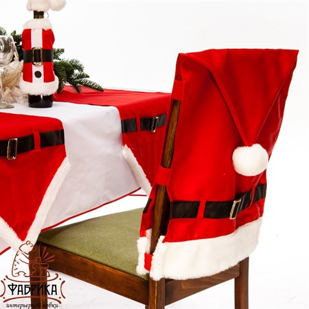 Чехол для стула новогодний  - фото 20086