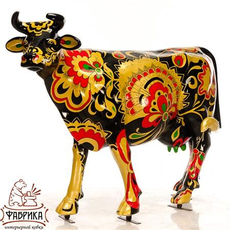 рекламная фигура корова хохлома